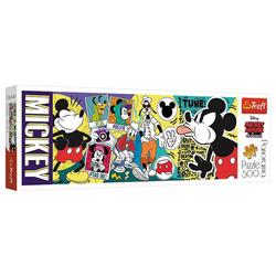 Trefl Puzzle Trefl 29511 Disney Mickey Mouse & Friends Die legendäre Mickey Mouse 500 Teile Panorama Puzzle, Puzzleteile