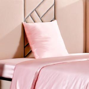 THXSILK 100% 19 Momme Seide Kissenbezug Kissenhülle mit Reißverschluss - Seide Kissen Bezug - Super Weich und Glatt Seide Kopfkissenbezug (45x45cm, Bezauberndes Rosa)