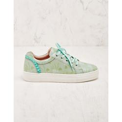 Deerberg Damen Leder-Sneaker Doreen grün