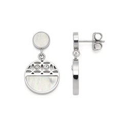 LEONARDO Paar Ohrstecker Larina, 019567, mit Kristallglas - mit Perlmutt