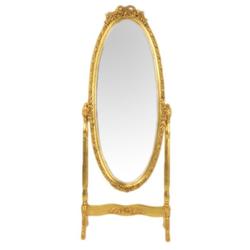 Casa Padrino Barock Standspiegel Schwenkbar Gold - Spiegel Gold - Möbel