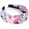 Stylebreaker styleBREAKER Haarband Haarreif mit Blumen Muster, 1-tlg., Haarreif mit Blumen Muster rosa