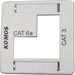 KOMOS KDD 500 Netzwerkdose Gehäuse Zentralplatte Weiß