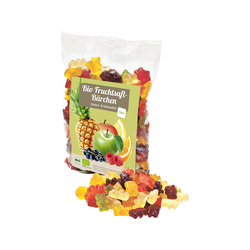 Vegane Bio Fruchtsaft Gummibärchen 500g Tüte