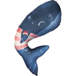 Schwangerschaftskissen Wal, 100x55 cm blau