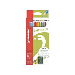 STABILO Buntstift GREENcolors, (12-tlg), aus FSC-zertifiziertem Holz