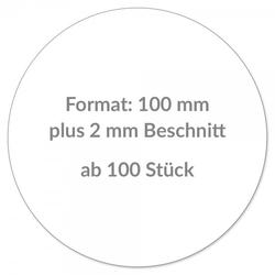 Individuelle Sticker rund 100 mm / CMYK Lösemittel Digitaldruck