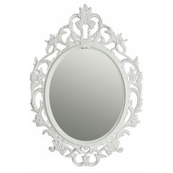 elbmöbel Wandspiegel Spiegel Oval Barock weiß Barockspiegel, Spiegel barock weiß Wandspiegel oval Barockspiegel Badspiegel