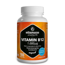 VITAMIN B12 1.000 µg hochdosiert vegan Tabletten 180 St