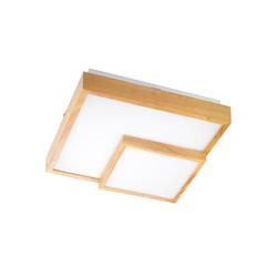 Wofi LED-Deckenleuchte Hudson in weiß/Eiche, 50 cm