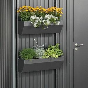 Biohort Blumenkasten FloraBoard  (Länge: 82 cm, Dunkelgrau Metallic)