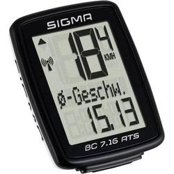 Sigma BC 7.16 ATS Fahrradcomputer, kabellos Codierte Übertragung mit Radsensor