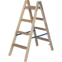 Krause Holz Stufen-Doppelleiter 2 x 4 Stufen 818317