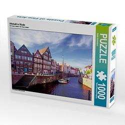 Altstadt in Stade Lege-Größe 64 x 48 cm Foto-Puzzle Bild von Fotine Puzzle