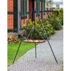 Schwenkgrill - 1,80m incl. Grillrost (Grillrost: Ø 80cm Stahl-Grillrost)