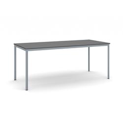 Esstisch, anthrazitplatte 1800 x 800 mm, dunkler sockel grau