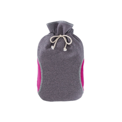 Hugo Frosch Wärmflasche, Öko-Wärmflasche 2,0 L mit Bezug Muff pink