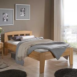 Einzelbett für Senioren Buche Massivholz