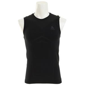 Odlo Herren Singlet Crew Neck Evolution Light Unterhemd, Black Graphite Grey, S, Black/Odlo Graphite Grey