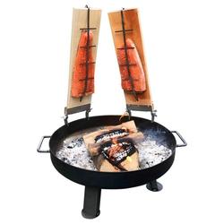 acerto® Feuerstelle Feuerschale 55cm + 2x Flammlachsbrett