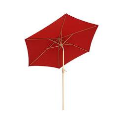 Sonnenschirm 270cm Kurbelschirm Sonnenschutz UV50+, Rot
