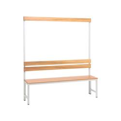 SZ METALL Sitzbank, Sitzbank 1,50 m, mit Hakenleiste-Garderobe 150 cm x 42 cm x 30 cm