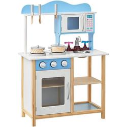 Woltu Spielküche, Kinderküche Spielküche aus Holz mit 5 Küchensets