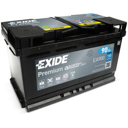 Exide EA900 Premium Carbon Boost 90Ah Autobatterie