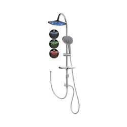Dusch Set Brauseset ohne Armatur LED Regendusche variable Halter
