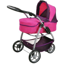 Knorrtoys® Puppenwagen Cico - pink owl, 2-in-1