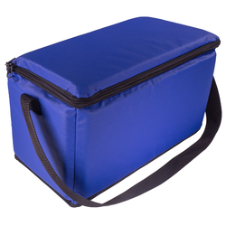 Baguette-Bag 35x17x17cm blau