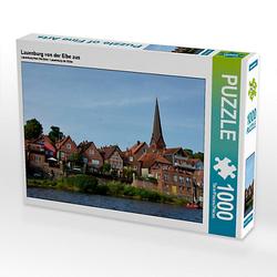 Lauenburg von der Elbe aus Lege-Größe 64 x 48 cm Foto-Puzzle Bild von Diana Schröder Puzzle