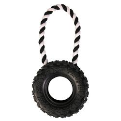 Trixie Reifen am Seil, Naturgummi, Maße: ø 15 cm / 32 cm