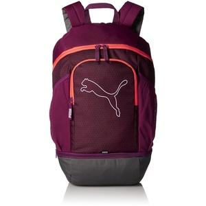PUMA Unisex Echo Backpack Rucksack, Dark Purple-hot Coral, Einheitsgröße