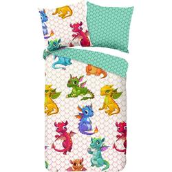 Kinderbettwäsche Dragons, good morning, mit Drachen