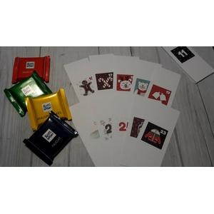 Ritter Sport Mini Schokolade Adventskalender 24 Banderolen - Motiv 3 - Handmade