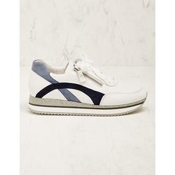 Gabor Damen Leder-Sneaker Madsine blau-weiß
