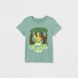 Toddler Boys' Turtle Guitar Graphic Short Sleeve T-Shirt - Cat & Jack Sea Green 18M