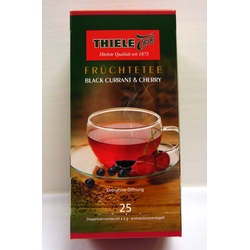 Thiele Tee, Black Currant & Cherry, 25 x 2 g Beutel