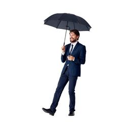 Burnell & Son Taschenregenschirm kompakter Regenschirm mit großem Schirmdach, sturmfester automatik Taschenschirm inkl. Trockentasche