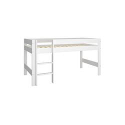 ebuy24 Kinderbett Nice Bett halbhoch 90x200 cm inkl. Lamellen, weiß