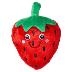 Karlie Hundespielzeug Plüsch Erdbeere rot
