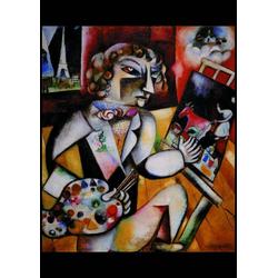 Piatnik Puzzle Marc Chagall, Selbstportrait mit 7 Fingern, Puzzleteile