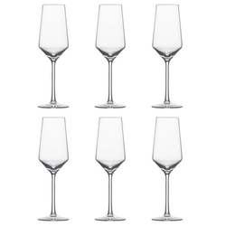 SCHOTT-ZWIESEL Sektglas Champagner m. MP Pure (6-tlg), TRITAN -Kristallglas