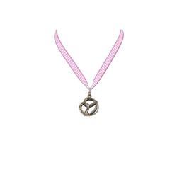 Halskette Brezel rosa