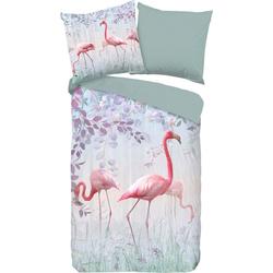 Wendebettwäsche Pinky, good morning, mit Flamingos 1 St. x 135 cm x 200 cm