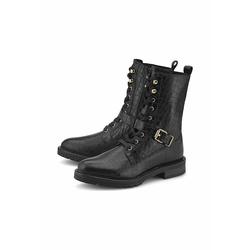 Schnürboots Schnür-Boots COX schwarz