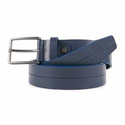 Piquadro B2S Gürtel Leder blue individuell kürzbar
