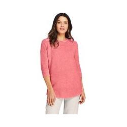 Pullover im Leinen-Baumwollmix - L - Rot