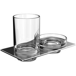 EMCO Doppelhalter ART Seifenschale und Glashalter chrom